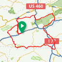 Map image of a Route from October  6, 2016
