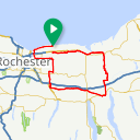Map image of a Route from October  7, 2016