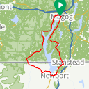 Map image of a Route from October  8, 2016