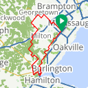 Map image of a Route from October 13, 2016