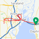 Map image of a Route from October 17, 2016