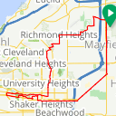 Map image of a Route from October 22, 2016
