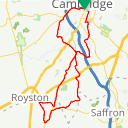 Map image of a Route from November  1, 2016