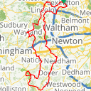 Map image of a Route from November  4, 2016