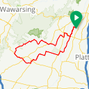 Map image of a Route from November  7, 2016