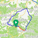 Map image of a Route from November  9, 2016