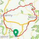 Map image of a Route from November 10, 2016