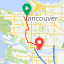 Map image of a Route from November 13, 2016