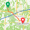 Map image of a Route from November 14, 2016