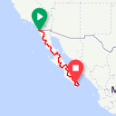 Map image of a Route from November 15, 2016