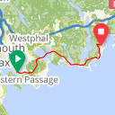 Map image of a Route from November 17, 2016