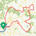 Map image of a Route from November 23, 2016