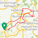 Map image of a Route from November 26, 2016