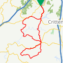 Map image of a Route from November 28, 2016