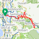 Map image of a Route from October  6, 2012