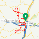 Map image of a Route from December 12, 2016