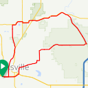 Map image of a Route from December 26, 2016