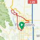 Map image of a Route from December 31, 2016