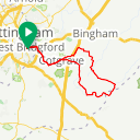 Map image of a Route from January  1, 2017