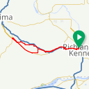 Map image of a Route from January  4, 2017