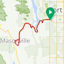 Map image of a Route from January  6, 2017