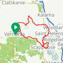 Map image of a Route from January  9, 2017