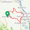 Map image of a Route from January 10, 2017