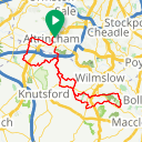 Map image of a Route from October 27, 2012