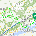 Map image of a Route from October 29, 2012