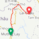 Map image of a Route from January 21, 2017