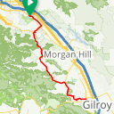 Map image of a Route from January 24, 2017