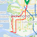 Map image of a Route from January 25, 2017