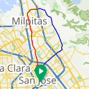 Map image of a Route from November  5, 2012