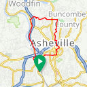 Map image of a Route from January 26, 2017