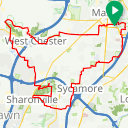 Map image of a Route from January 28, 2017
