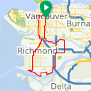 Map image of a Route from February  2, 2017