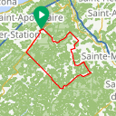Map image of a Route from February  3, 2017