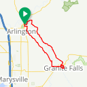 Map image of a Route from February  6, 2017