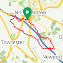 Map image of a Route from February 14, 2017