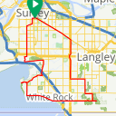Map image of a Route from February 20, 2017