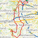 Map image of a Route from February 22, 2017
