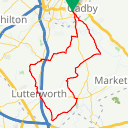 Map image of a Route from February 25, 2017