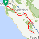 Map image of a Route from February 28, 2017