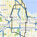 Map image of a Route from March  1, 2017