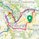 Map image of a Route from March  4, 2017