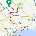 Map image of a Route from March  5, 2017
