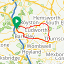 Map image of a Route from March 13, 2017