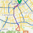 Map image of a Route from November 26, 2012