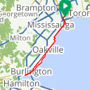 Map image of a Route from March 20, 2017