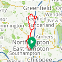 Map image of a Route from March 25, 2017